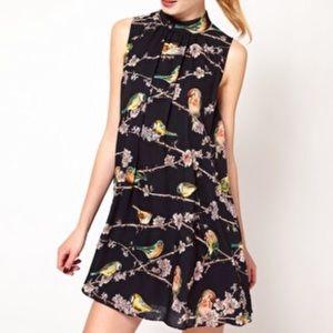 Ted Baker Madlin Bird Branch Print Dress